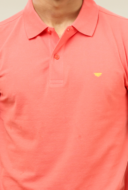 2ecf5a46138 Buy Red Tape Coral Solid Polo T-Shirt for Women Online   Tata CLiQ