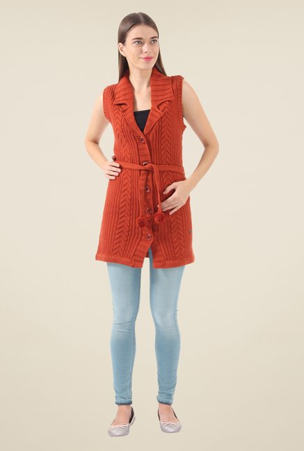 Monte Carlo Orange Crochet Cardigan