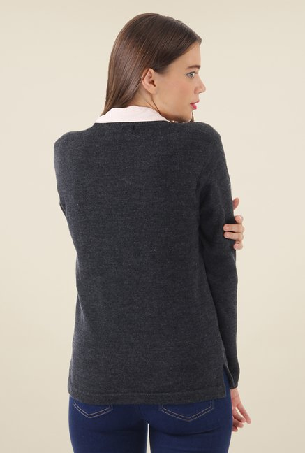 Monte Carlo Grey Textured Cardigan