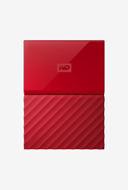 WD My Passport 1 TB Wired External Hard Disk Drive Red