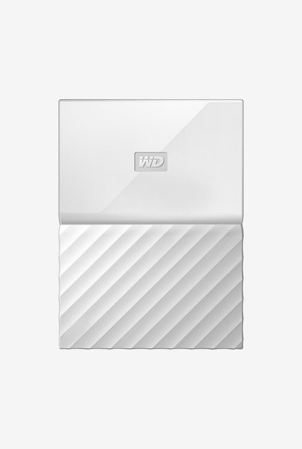WD My Passport 1 TB Wired External Hard Disk Drive White