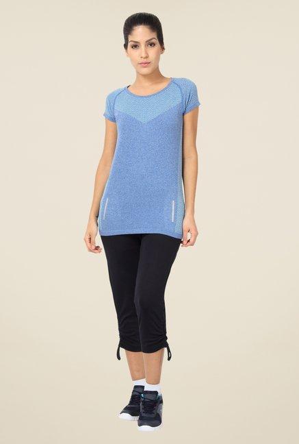 Proline Blue Textured T Shirt