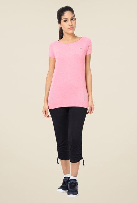 Proline Pink Textured T Shirt