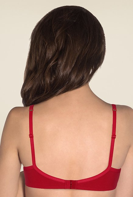 Amante Red Solid T-shirt Bra