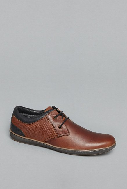 79b1bfb4100c3 Buy David Jones by Westside Tan Derby Shoes for Men at Best Price ...