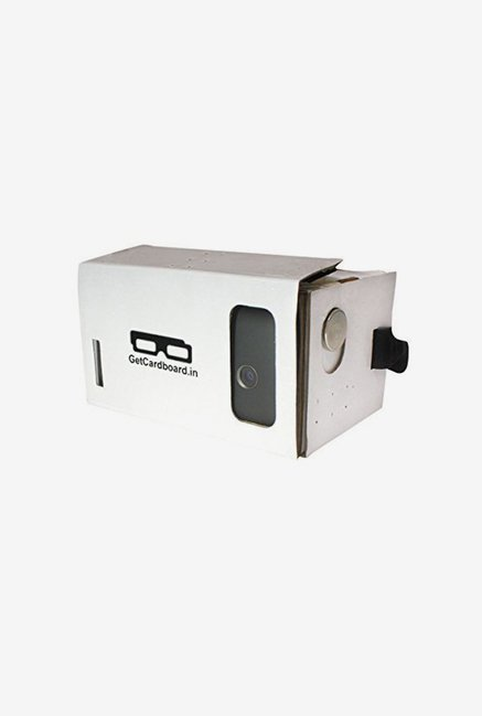 GetCardboard GC 0002 Virtual Reality VR Headset  White  available at TatacliQ for Rs.210
