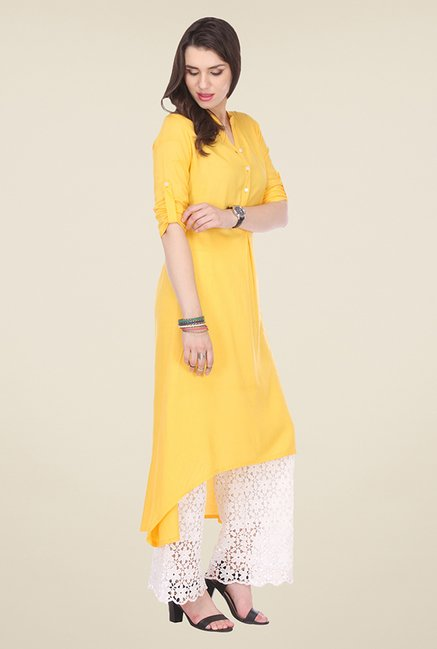 Varanga Yellow Solid Kurta
