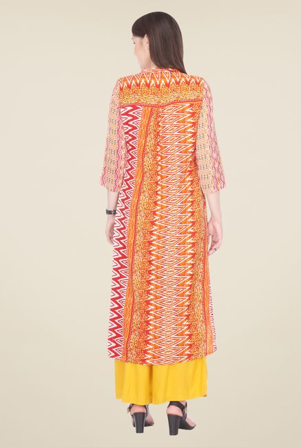 Varanga Orange Printed Kurta