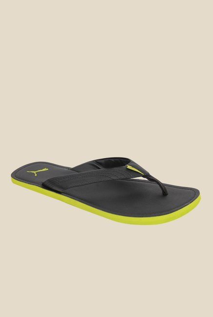 720474f84a78 Buy Puma Ketava III DP Black   Green Flip Flops for Men at Best Price    Tata CLiQ