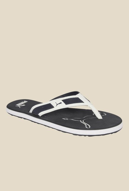 b8674a370dd Buy Puma Breeze NG DP Black   White Flip Flops for Men at Best ...