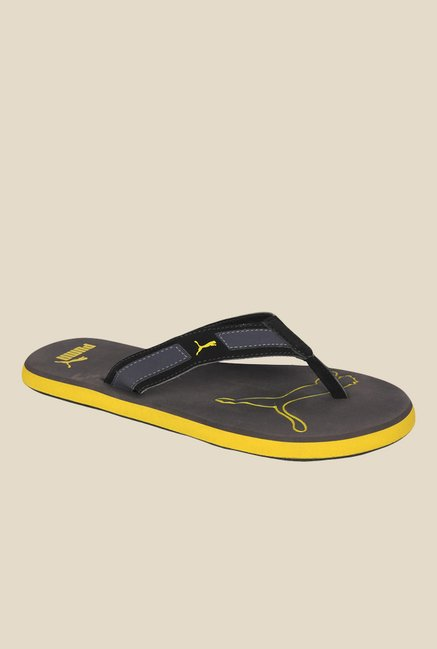 68c2f90fa7f Buy Puma Breeze NG DP Black Flip Flops for Men at Best Price   Tata CLiQ