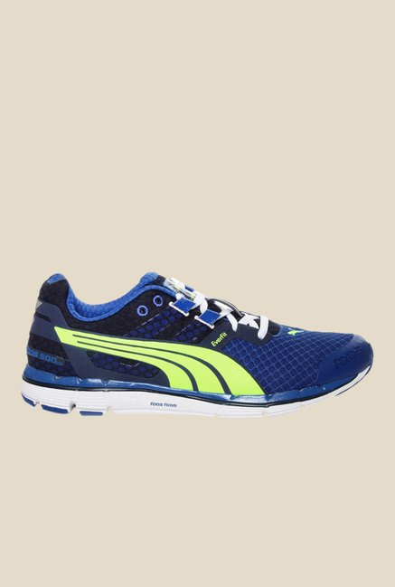 Buy Puma Faas 500 V3 Blue   Green Running Shoes for Men at Best ... fa926d276