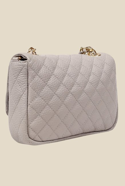 1b2c628668d Buy Da Milano Ivory Quilted Leather Sling Bag For Women At Best ...