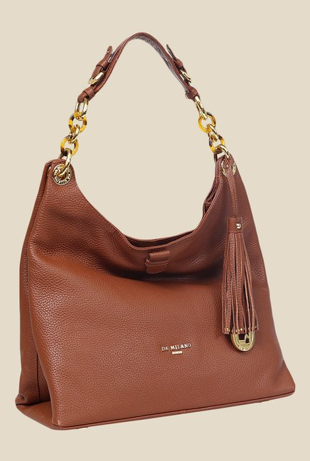 3499a2bf8e Buy Da Milano Brown Leather Shoulder Bag For Women At Best Price ...