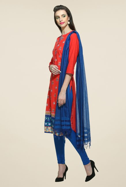 Aurelia Red Printed Kurta