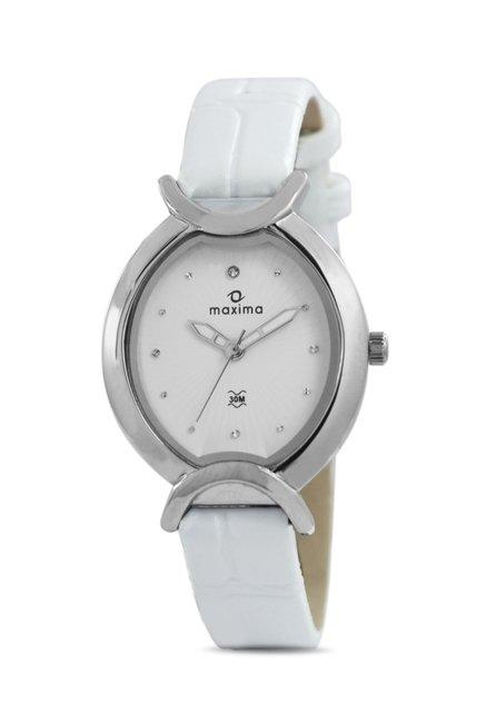 Maxima 24681LMLI Attivo Analog White Dial Women's Watch (24681LMLI)