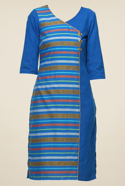 Aurelia Blue Striped Kurta