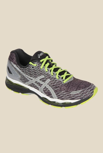 0caf5a0192b7 Buy Asics Gel-Nimbus 18 Lite-Show Black   Grey Running Shoes for Men at  Best Price   Tata CLiQ