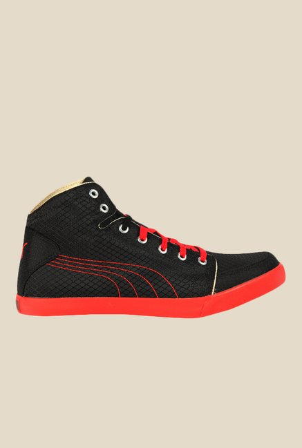a9a5e2b0195a Buy Puma Drongos DP Black   Red Casual Sneakers for Men at Best Price    Tata CLiQ