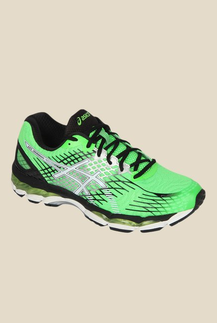 online retailer 9207f 84ea4 Buy Asics Gel-Nimbus 17 Green & Black Running Shoes for Men ...