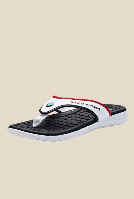 f2bccf1b0f2 Buy Puma BMW MS White   Black Flip Flops for Men at Best Price   Tata CLiQ
