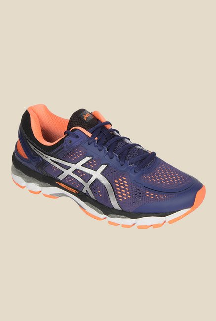 a97e7bb6 Buy Asics Gel-Kayano 22 (2E) Navy & Orange Running Shoes for Men at ...