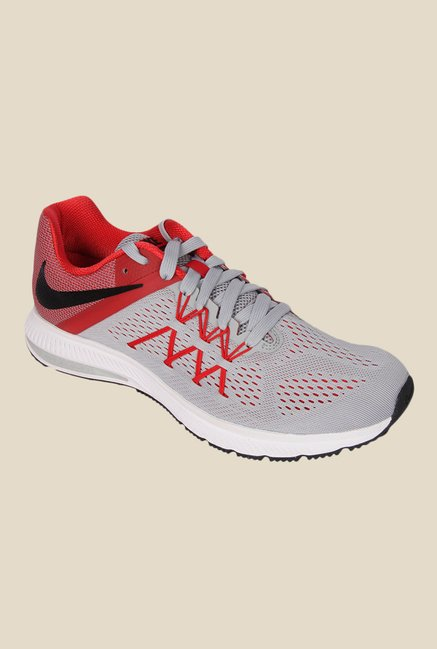e5c267896438 Buy Nike Zoom Winflo 3 Grey Running Shoes for Men at Best Price   Tata CLiQ