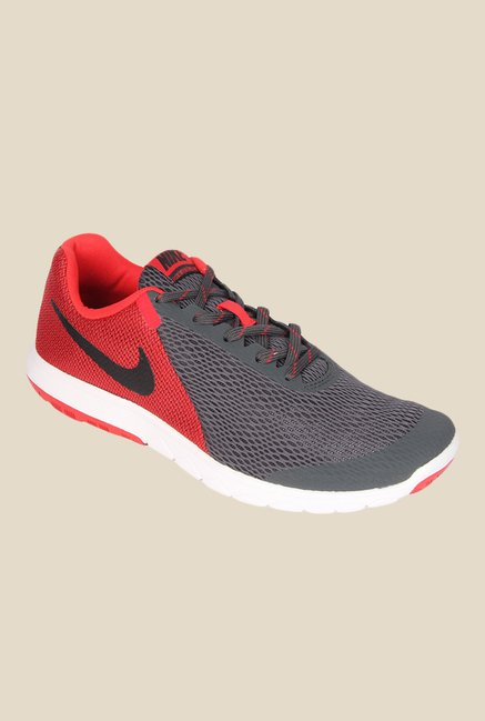 1285c71b64c2f Buy Nike Flex Experience Rn 5 Grey   Red Running Shoes for Men at Best  Price   Tata CLiQ