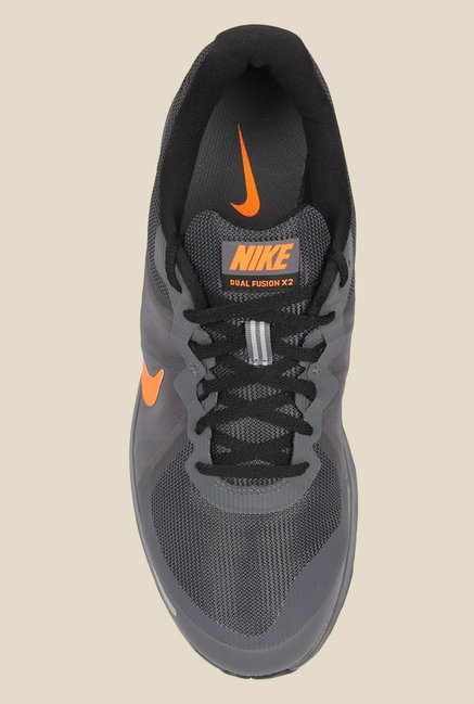 super popular da7b5 478a7 Nike Dual Fusion X 2 Grey Running Shoes