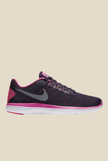 09a36f785380 Buy Nike Flex 2016 Rn Black   Pink Running Shoes for Men at Best Price    Tata CLiQ