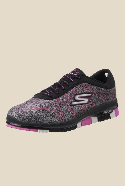 04582b34078 Buy Skechers Go Flex Black   Pink Running Shoes for Men at Best Price   Tata  CLiQ