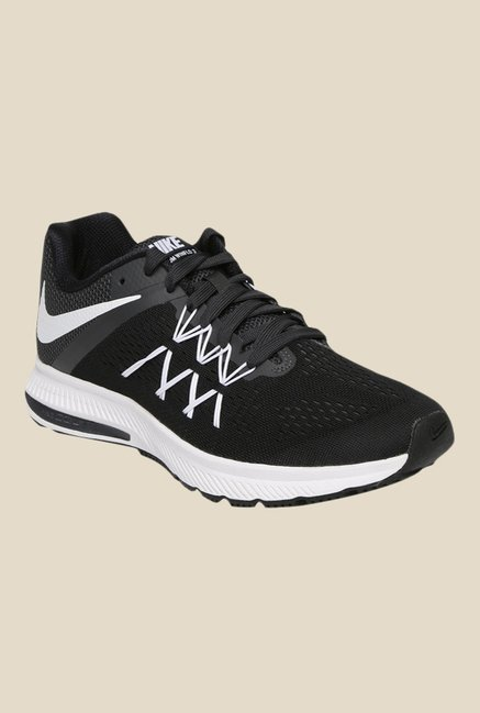 e334d2d44f8c Buy Nike Zoom Winflo 3 Black Running Shoes for Men at Best Price   Tata CLiQ