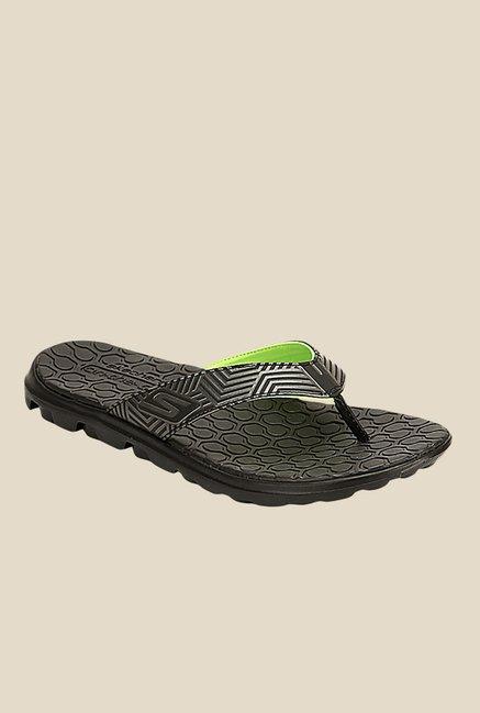 0ccdcf46586 Buy Skechers Go Bionic Black   Grey Flip Flops for Men at Best Price   Tata  CLiQ