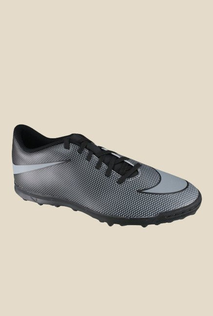 new style 4d154 150c5 Buy Nike Bravata II TF Grey  Black Football Shoes for Men at Best Price   Tata CLiQ