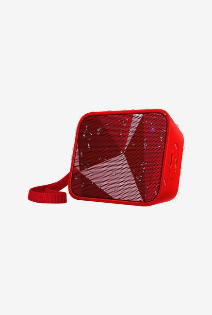 Philips BT110A/00 Portable Bluetooth Speaker (Red)