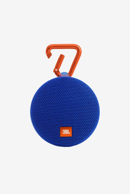 JBL Clip 2 Portable Wireless With Mic Bluetooth Speaker, Blue