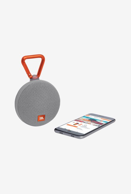 JBL Clip 2 Bluetooth Speaker (Grey)