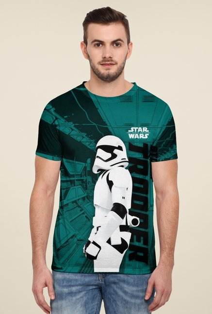 Disney Teal Graphic Print T Shirt