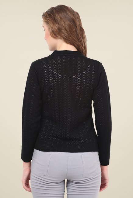 Duke Stardust Black Crochet Sweater
