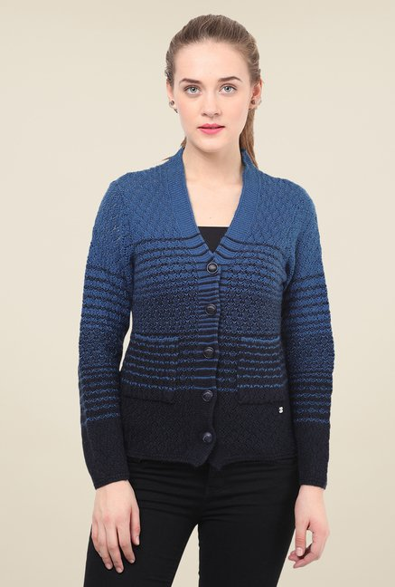 Duke Stardust Navy Crochet Sweater