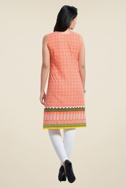 Zola Orange Printed Kurta