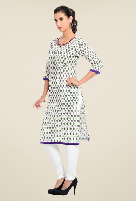 Zola Purple Printed Kurta