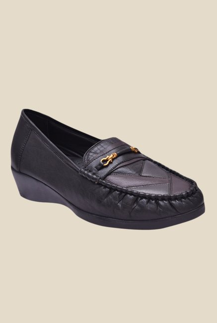 Buy Enzo Cardini Black Formal Loafers for Women at Best Price   Tata CLiQ f2db27500