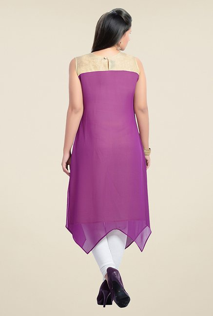 Zola Purple Solid Kurta