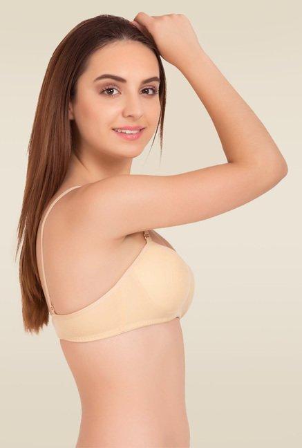buy tweens beige non wired padded bra for women online