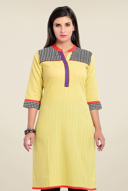 Zola Yellow Printed Kurta