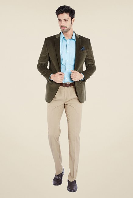 Buy Park Avenue Olive Solid Jacket For Men Online At Tata Cliq