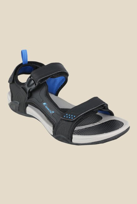 d48740141adfd Buy Fsports Alex Black   Blue Floater Sandals for Men at Best Price ...