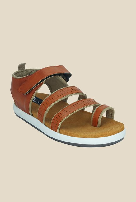 Kielz Tan Ankle Strap Sandals