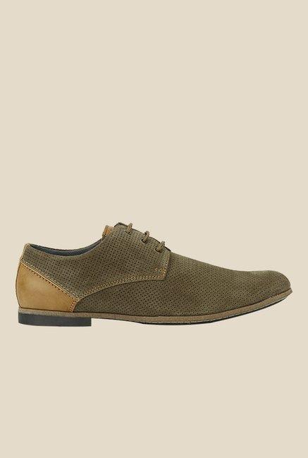 San Frissco Olive Derby Shoes